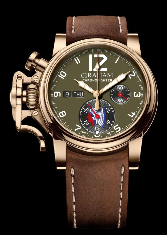 GRAHAM Chronofighter Vintage Overlord watch Green sandblasted dial