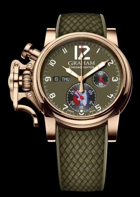 GRAHAM Chronofighter Vintage Overlord bronze watch