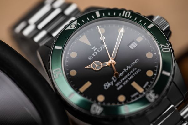 Edox Skydiver Military watch