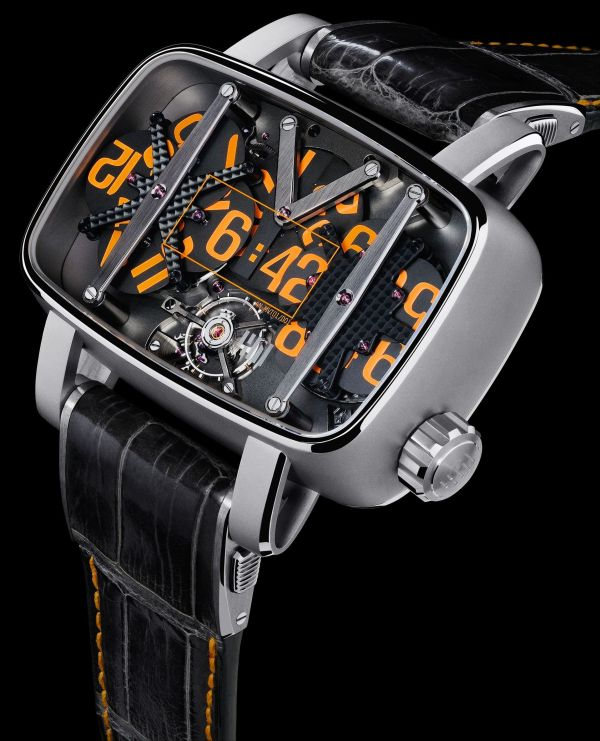 4N - MVT-01 Bead-Blasted and Polished Titanium watch