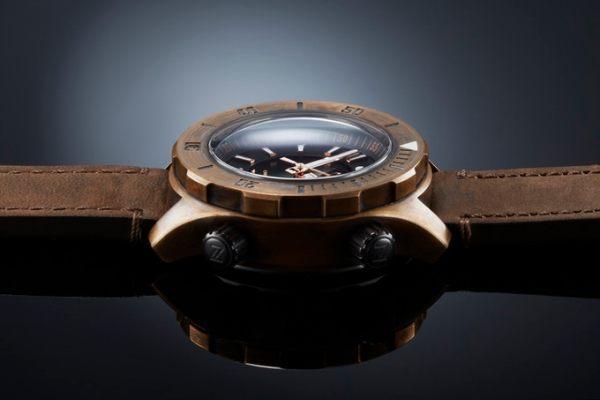 Zelos Abyss diving watch bronze case