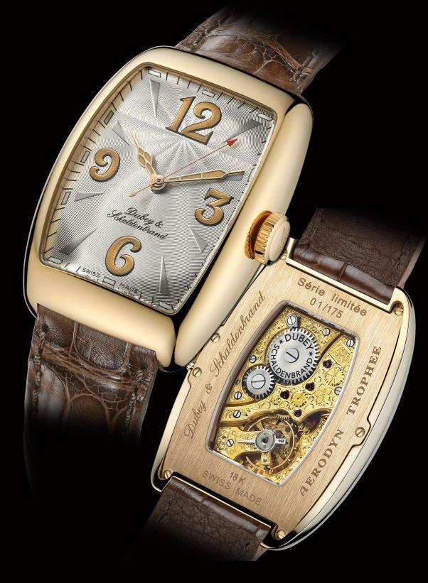 Dubey & Schaldenbrand Aerodyn Trophee hand-wound watch gold case