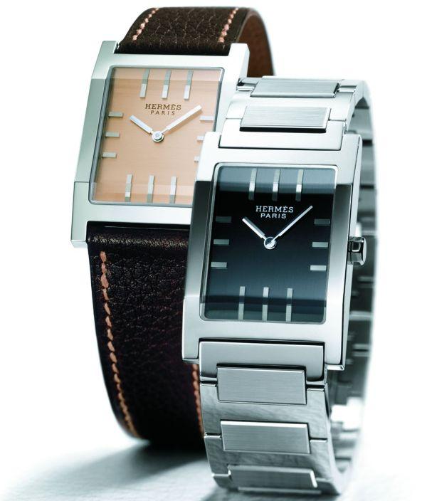 HERMES Tandem quartz watch 2001