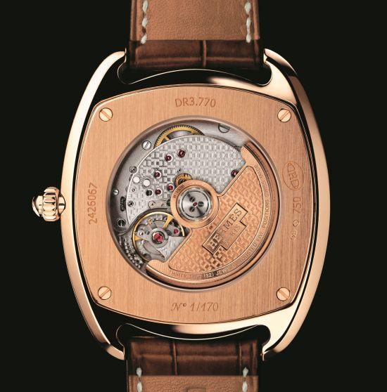 Hermès Dressage Annual calendar automatic watch caseback view