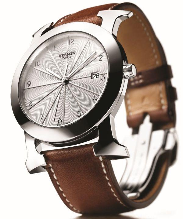 Hermès ROUND H-OUR quartz watch for men
