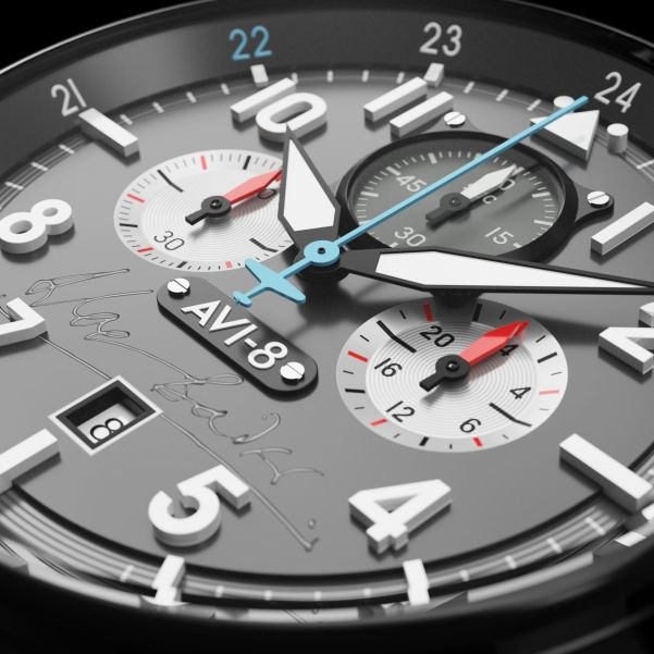 AVI-8 Hawker Hurricane Bader Chronograph Limited Edition dial