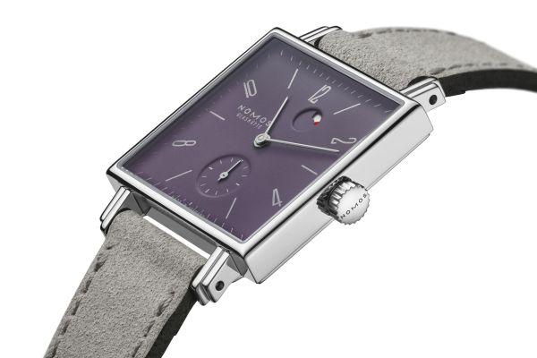 NOMOS Glashütte Tetra plum watch