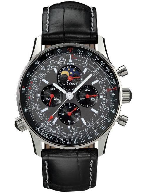 Sinn Model 9903 H4 : Navigation Chronograph with Hand-Wound Lemania 1883 Movement and Moon Phase