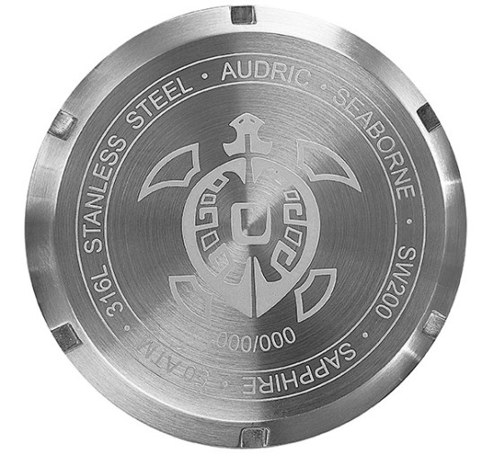Caseback of AUDRIC SEABORNE watch