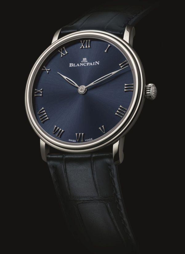 Blancpain Villeret Ultraplate Platinum, Boutique Edition with Blue Dial – (Villeret Collection, Ref. 6605-3440-55A)
