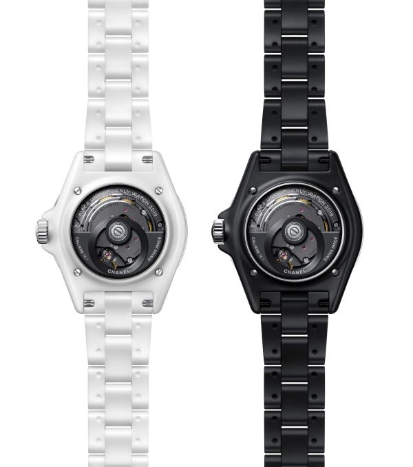 CHANEL J12 Inseparables for Only Watch 2019 caseback -Caliber 12.1 self-winding movement by Kenissi manufacture