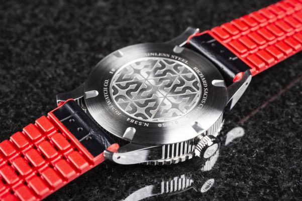 Caseback view of RGM Model 500-GMT-RS (Richard Sachs) Limited Edition watch