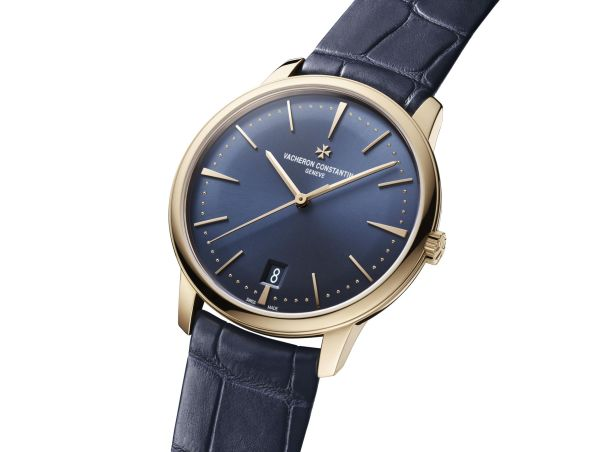 Vacheron Constantin Patrimony Self-Winding, New Pink Gold Models with Sunburst Satin-Finish Blue Dial