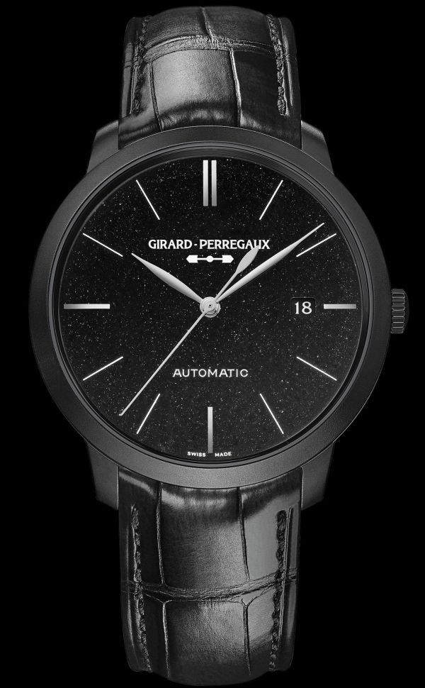 Girard-Perregaux 1966 Orion Trilogy -	Steel with DLC treatment 49555-11-631-BB6D