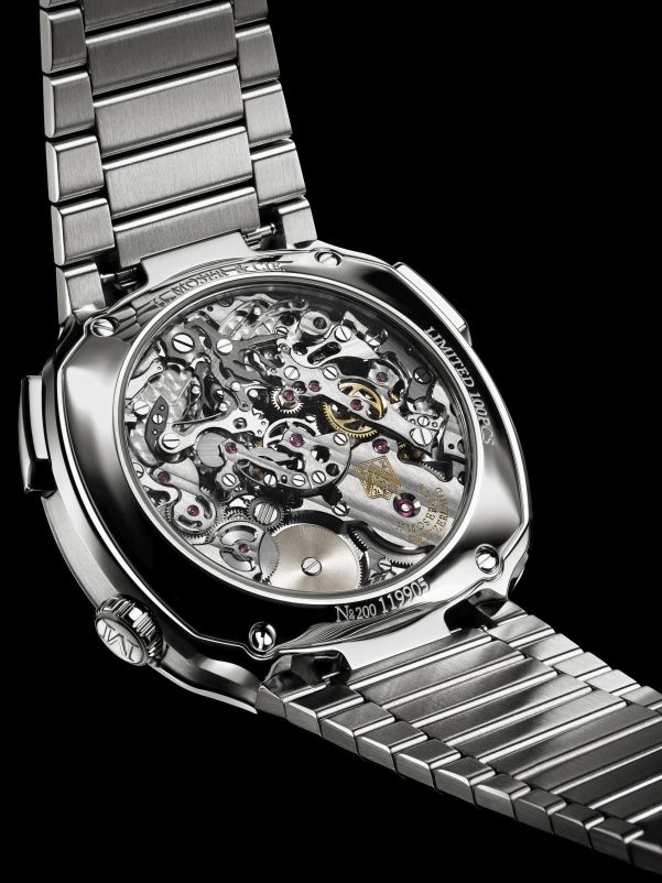 caseback view of H. Moser & Cie. Streamliner Flyback Chronograph Automatic watch