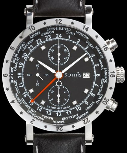 SOTHIS WORLD TIME CHRONO 2 WATCH