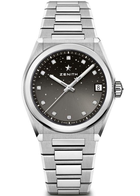 Zenith DEFY Midnight model 1 radiant grey dial