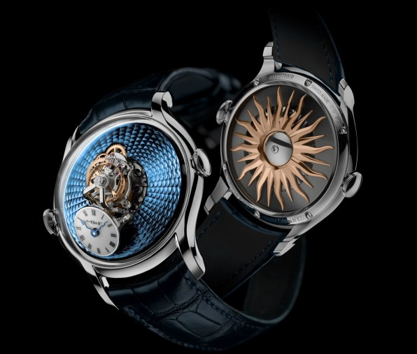 MB&F Legacy Machine FlyingT, Red Gold and Platinum Editions