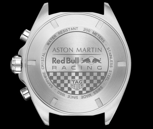 TAG Heuer Formula 1 Aston Martin Red Bull Racing Special Edition 2020 caseback