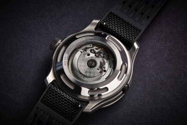 Christopher Ward C60 Elite 1000 Automatic Dive Watch caseback view
