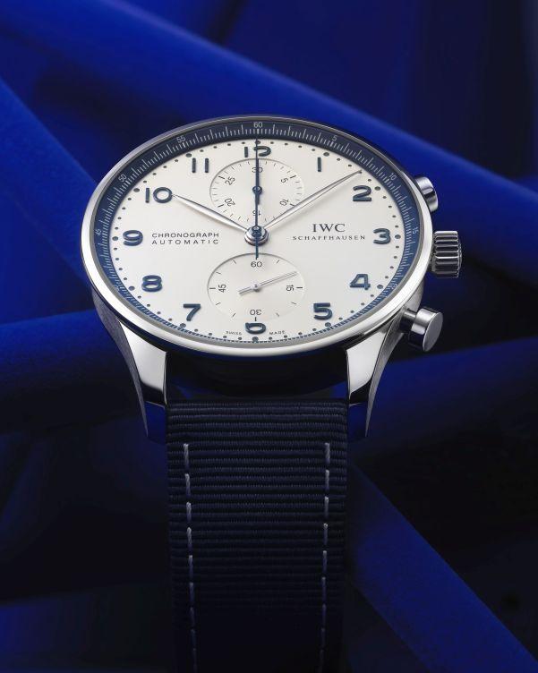 IWC Schaffhausen Portugieser Chronograph BUCHERER BLUE Limited Edition