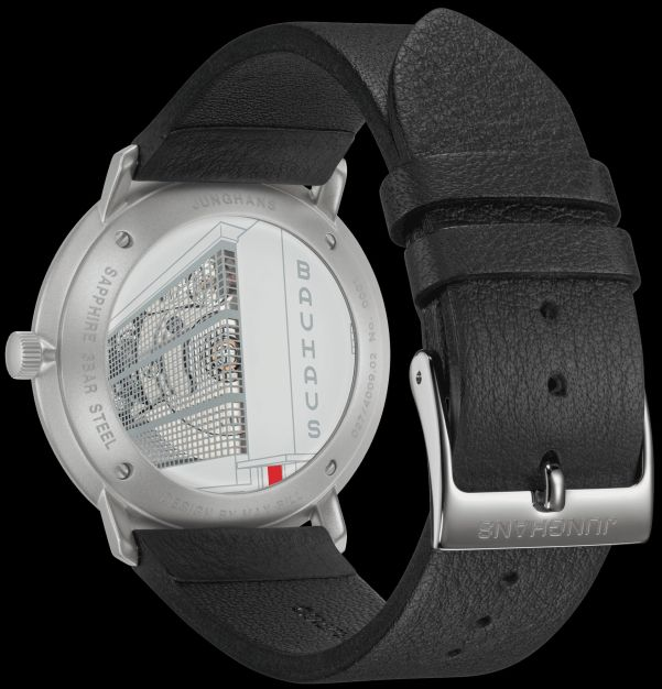 Caseback view of Junghans max bill Automatic Bauhaus watch new 2020