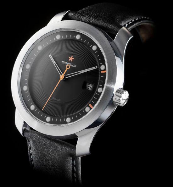 Sidereus Newgrange Watch with Brushed Finish and Greywacke Grey Dial