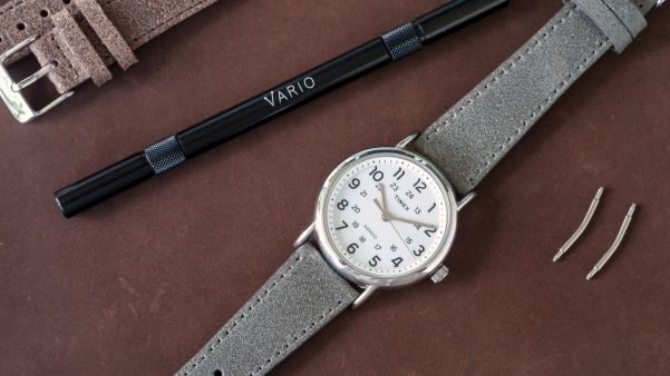 Timex Indiglo Watch with Vario Vintage Distressed Italian Leather Strap