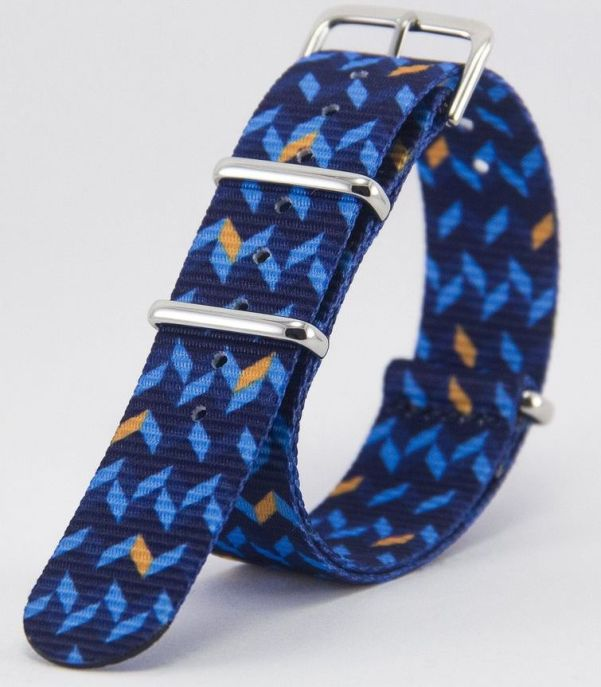 Vario Ocean Chevron Graphic Nato Watch Strap