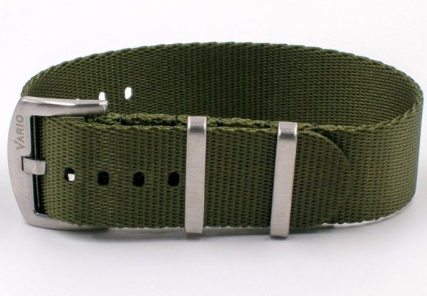 Vario Seat Belt Nylon NATO Watch Strap