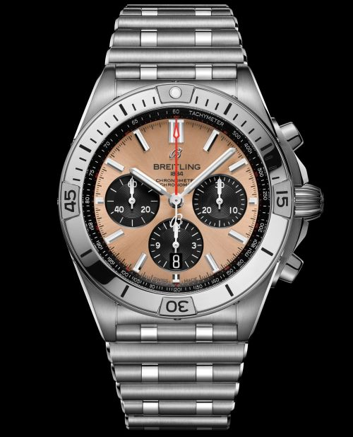 Breitling Chronomat Collection_chronomat-b01-42-with-a-copper-colored-dial-and-black-contrasting-chronograph-counters_ref-ab0134101k1a1