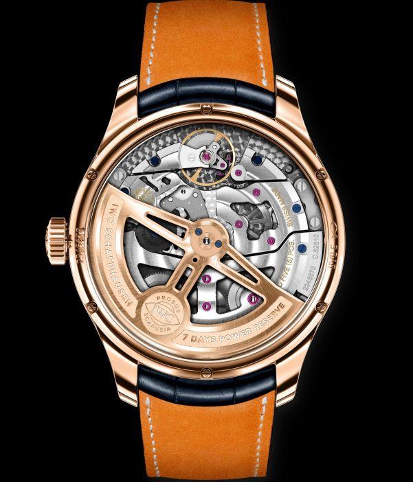 "IWC Schaffhausen Portugieser Perpetual Calendar ""Boutique Edition"" in 18-carat Armor Gold® (Ref. IW503312) caseback"