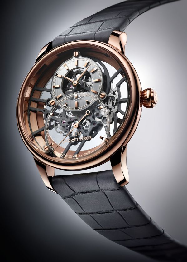 Jaquet Droz Grande Seconde Skelet-One New Models in Red Gold (Reference J003523241)