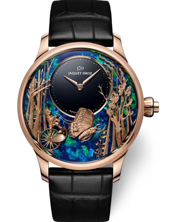 Jaquet Droz Loving Butterfly Automaton Opal, Unique Pieces red gold model