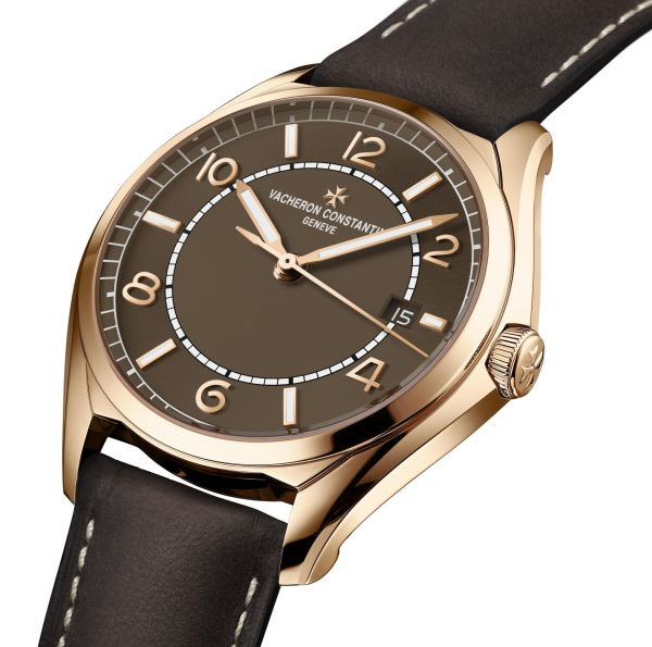 Vacheron Constantin Fiftysix® Self-winding with Sepia Brown-Toned Dial and Matching Calfskin Strap 1