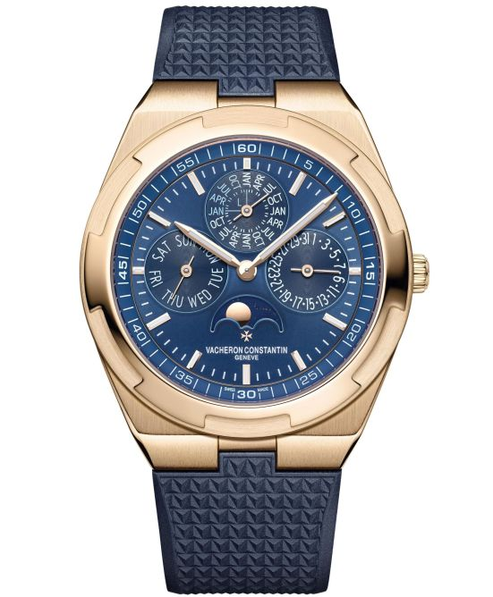 Vacheron Constantin Overseas Perpetual Calendar Ultra-Thin, Pink Gold Version with Blue Dial