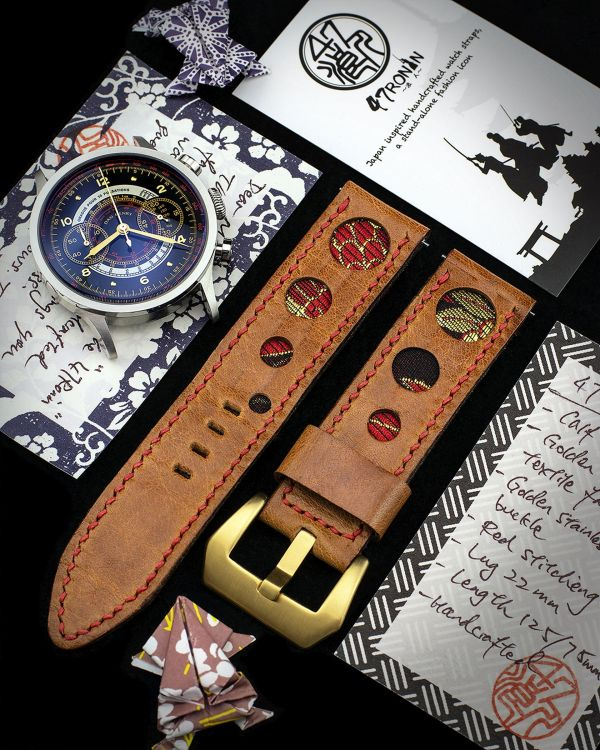 47Ronin: Bespoke Leather Watch Straps handcrafted from exotic Japanese materials