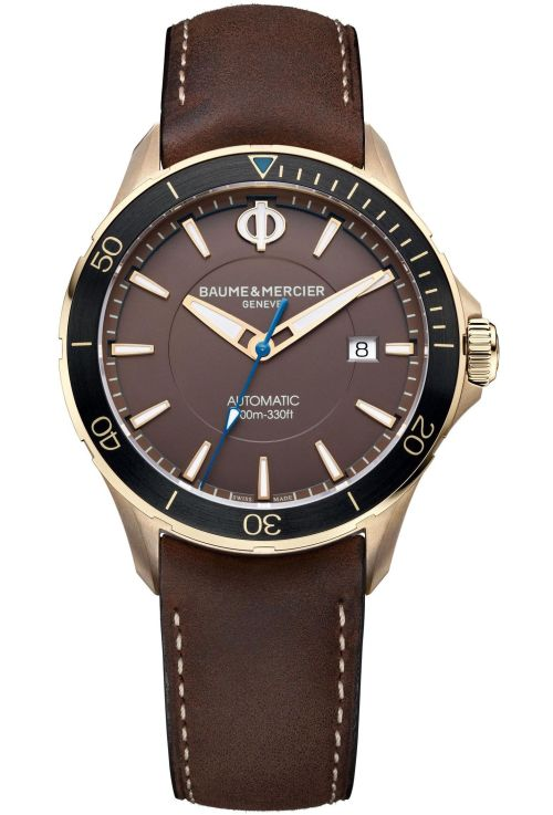 Baume & Mercier Clifton Club Bronze, Reference M0A10501, Polished & satin-finished bronze case, Brown dial