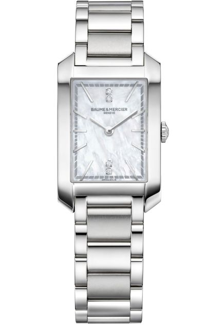 Baume & Mercier Hampton Quartz Small – Steel Case, White mother-of-pearl dial, Steel Bracelet, Reference M0A10474