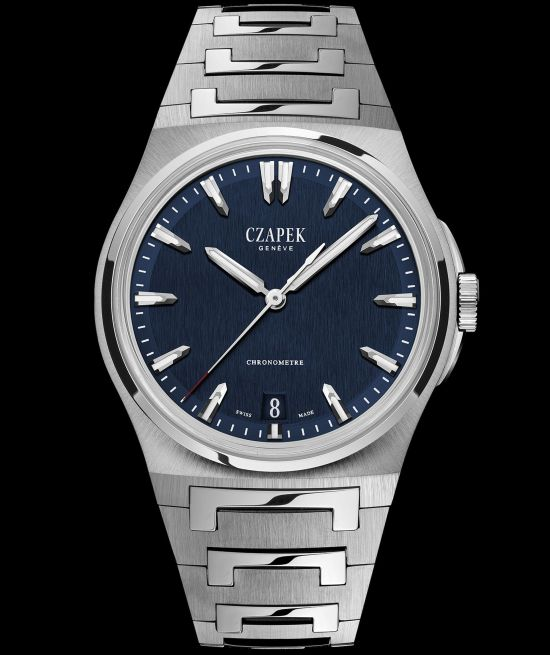 Czapek & Cie Antarctique, The Terre Adélie Model with Steel case, Deep Blue Dial and Integrated stainless steel bracelet