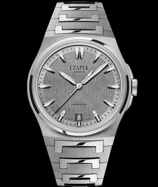 Czapek & Cie Antarctique, The Terre Adélie Model with Steel case, Secret Alloy Dial and Integrated stainless steel bracelet