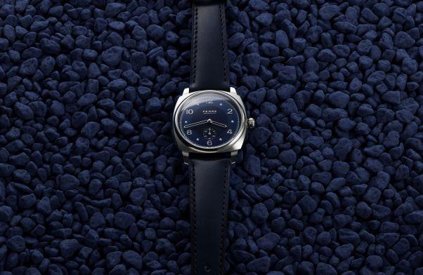 Fears Brunswick - Fears Blue dial on a Fears Blue strap - blue stones