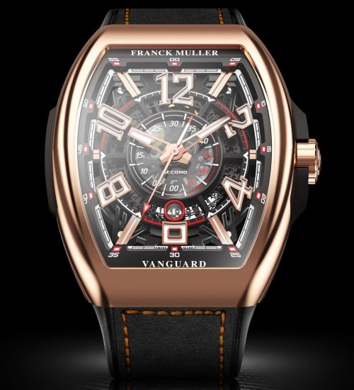 Vanguard™ Racing Skeleton, 18k rose gold polished case