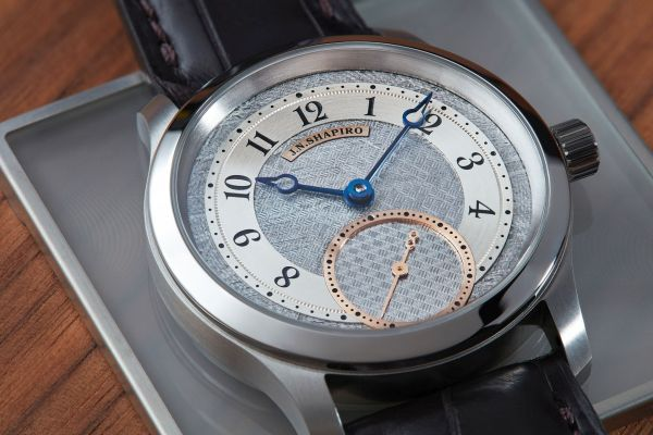 J.N. Shapiro Infinity Series Watch with Unique Engine-Turned Meteorite Dials, Exclusively for Collective