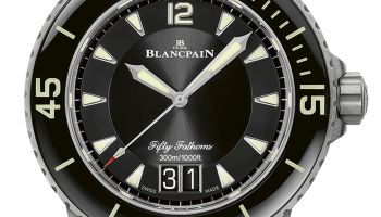 Blancpain Fifty Fathoms New Automatique and Grande Date models with Titanium Bracelets (Ref. 5015-12B30-98B, Ref. 5015-12B40-98B & Ref. 5050-12B30-98B)