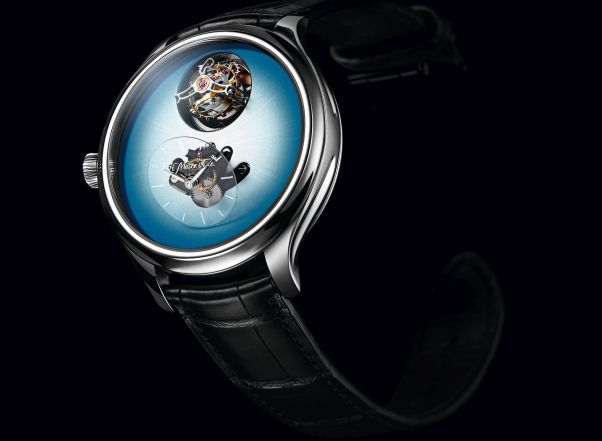Endeavour Cylindrical Tourbillon H. Moser X MB&F Limited edition with Ice Blue dial