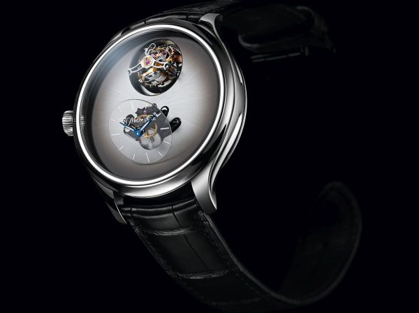 Endeavour Cylindrical Tourbillon H. Moser X MB&F Limited edition with Off-White fumé dial