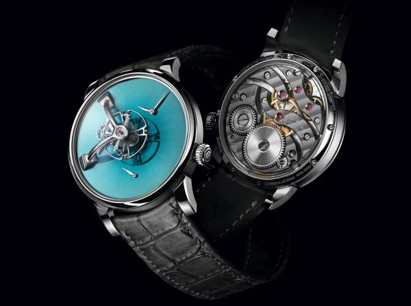 LM101 H. Moser X MB&F Special Edition with Aqua Blue fumé dial made for the retailer Ahmed Seddiqi& Sons