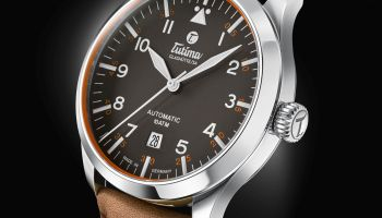 Tutima Flieger with classic leather strap. Ref. no. 6105-03