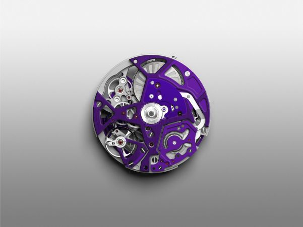 ZENITH DEFY 21 ULTRAVIOLET movement front side
